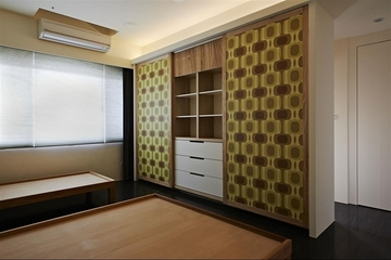 木质温馨简约住宅欣赏卧室