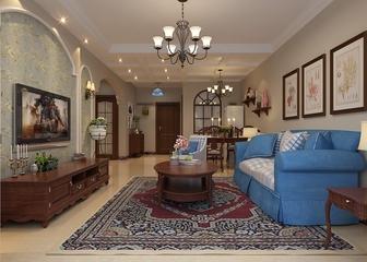 79平惬意美式住宅欣赏客厅背景墙