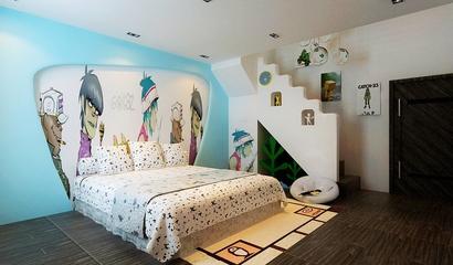 简约风三居室案例欣赏卧室背景墙