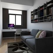 白色现代风格设计案例欣赏书房摆件