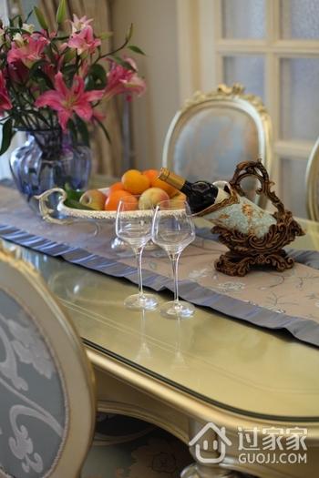 浪漫欧式风 餐厅餐桌装修效果图