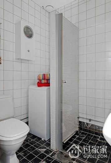 白色北欧两居室住宅欣赏卫生间吊顶
