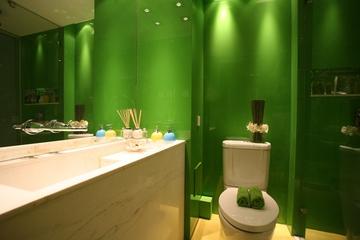 绿色环保简约小屋欣赏洗手间