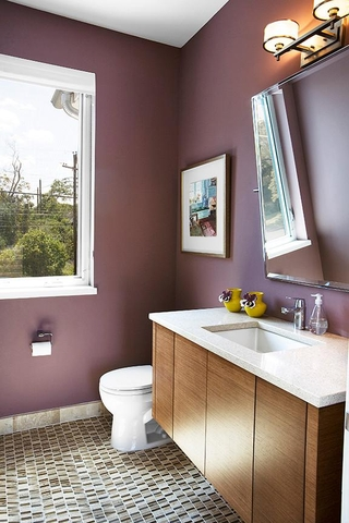 时尚现代风格装修套图客厅洗手间