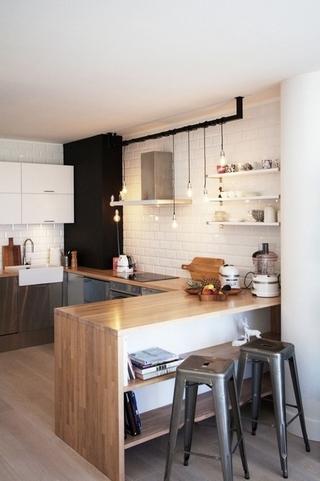白色北欧风情住宅欣赏厨房