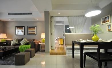64平清爽两居室欣赏客厅吊顶