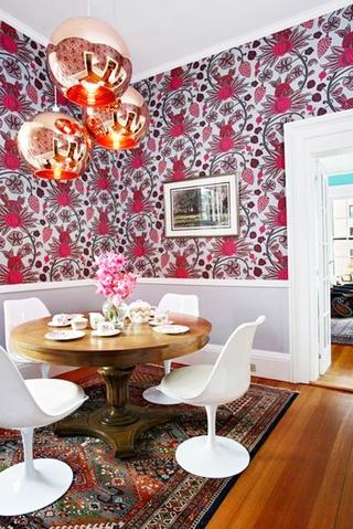 印花图案美式两居室欣赏餐厅