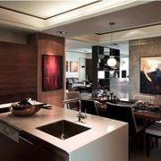 简约暗黑设计效果图欣赏厨房