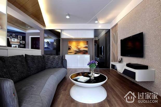 69平时尚现代二居室装修图