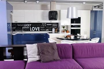 110平紫色的美居欣赏厨房