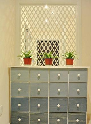 白色浪漫简约两居室欣赏玄关隔断设计