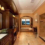 美式奢华设计效果图赏析卫生间