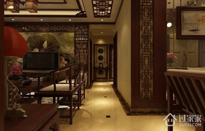 典雅中式风走廊吊顶图片