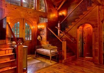 美式风格别墅效果图玄关图片
