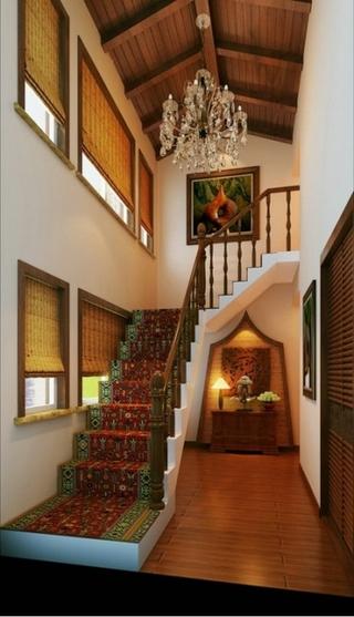 东南亚奢华住宅欣赏楼梯间