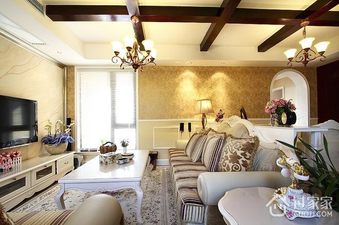 100平米三室两厅欣赏客厅