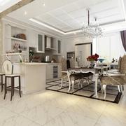 奢华新古典四居室欣赏餐厅