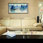 温馨简约客厅沙发摆放图 让家多一些自然