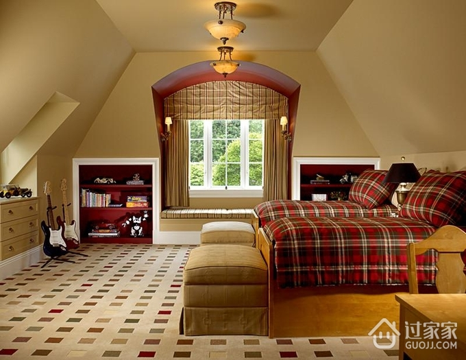 轻奢欧式风格住宅套图儿童房_过家家装修效果图