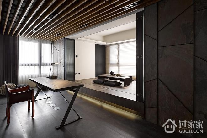 120平现代三室两厅住宅欣赏书房