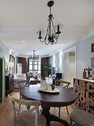 90平三室两厅住宅欣赏餐厅