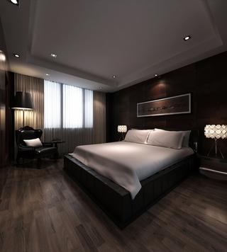 雅致新中式住宅欣赏卧室