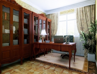 奢华欧式住宅欣赏书房书架