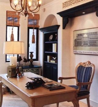 106平地中海三居室欣赏书房