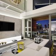 复式现代电视背景墙