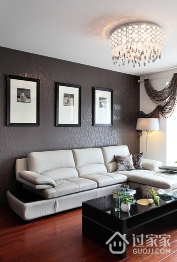 120平简约旋律住宅欣赏客厅设计