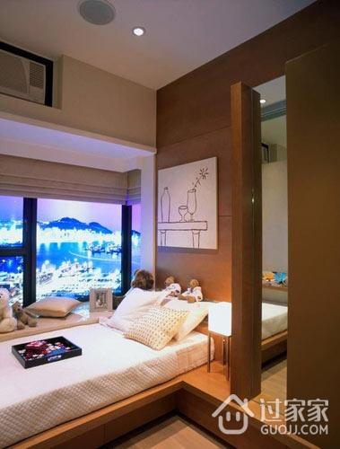 92平简约三居室欣赏卧室窗户