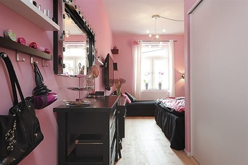 低调现代三居室欣赏卧室局部