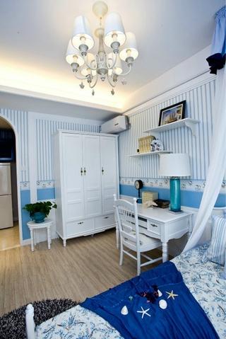 69平地中海住宅欣赏卧室灯饰
