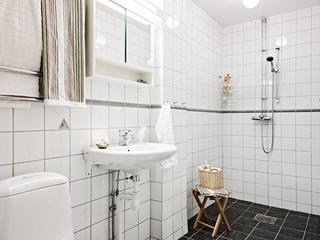 白色北欧一居室案例欣赏卫生间吊顶