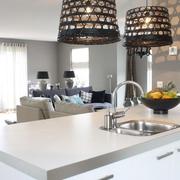 现代黑白灰别墅套图厨房灯具