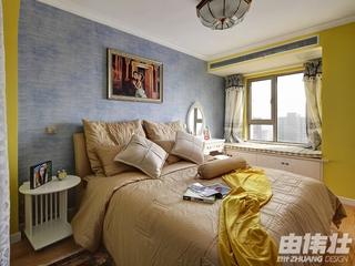 115平地中海住宅欣赏卧室