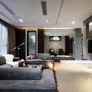 高端上档次 现代客厅沙发摆放图