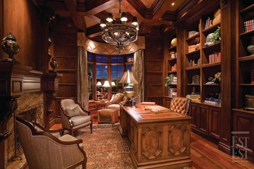 美式奢华别墅装饰赏析书房