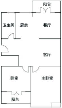 55平方米两室两厅装修 小户型错层隔断设计大大增加利用率