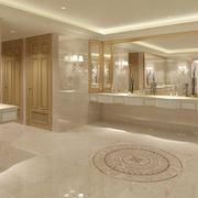 现代简约卫生间洗手台装修效果图