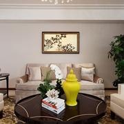 新古典客厅沙发摆放图 优雅大气家居
