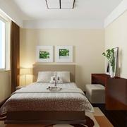 简约风卧室照片墙装饰图 简约清新风