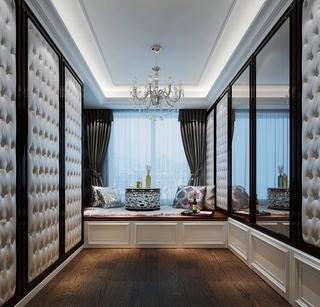 105平新古典三居室欣赏书房吊顶