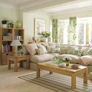 绿色简约生活气息欣赏客厅窗户