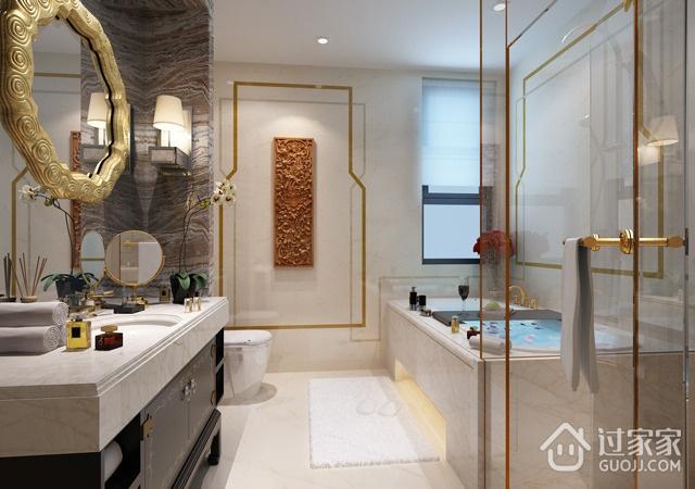 卫生间浴室柜装饰图 最爱新中式风