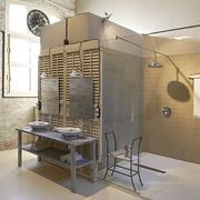 全开放式一居简欧住宅欣赏洗手间设计