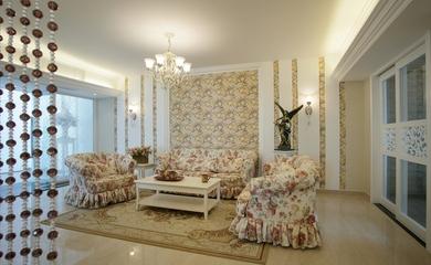 田园风三居室欣赏客厅背景墙