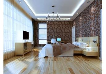 白色淡雅三居室欣赏卧室吊顶