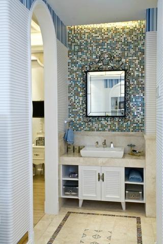 69平地中海住宅欣赏洗手间