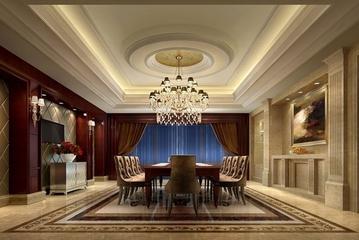 150平欧式大宅设计欣赏餐厅餐桌